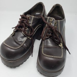 Soda Platform Shoes, Brown, 8.5